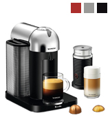 Breville BNV250CRO1BUC1 Nespresso Vertuo Coffee and Espresso Maker with Aeroccino