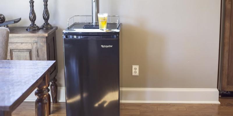 EdgeStar KC2000 Full Size Kegerator and Keg Beer Cooler in the use