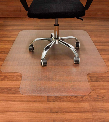 Review of AiBOB 36 x 48 Office Chair mat for Hardwood Floor