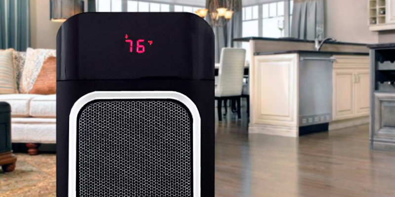 Bovado Comfort Zone Oscillating Ceramic Tower Fan Heater in the use