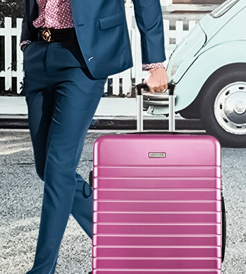 Review of LEMOONE Luggage 3 Piece Set Pink Hard Shell Suitcase Lightweight, 20, 24, 28