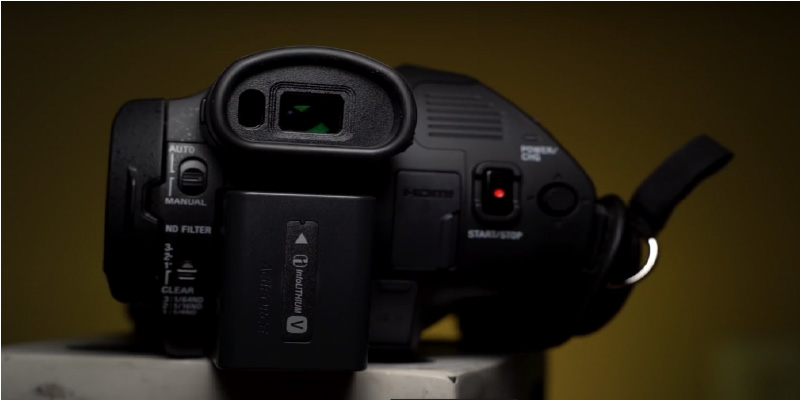 Sony HXR-NX80 4K HD NXCAM Camcorder in the use