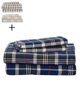 Stone & Beam Rustic 100% Cotton Plaid Flannel Bed Sheet Set