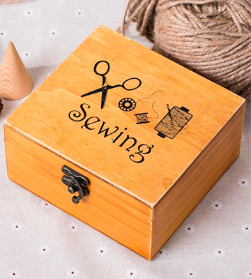 Review of MissLytton Wooden Sewing Box with Sewing Kit Accessories