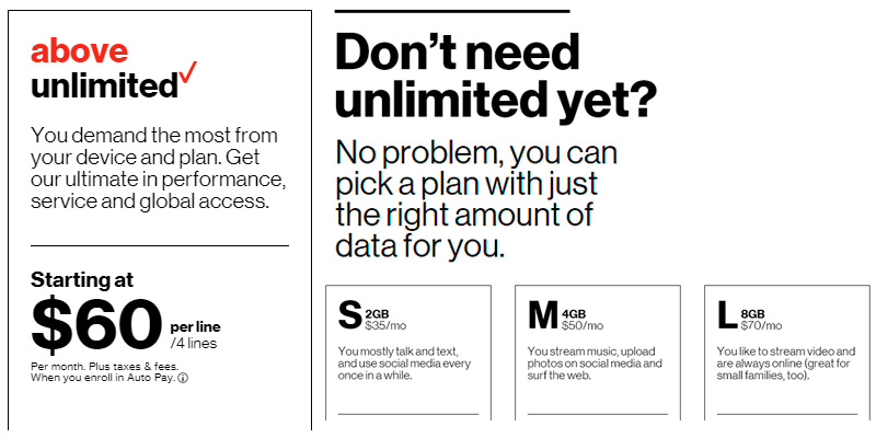 Detailed review of Verizon Cell Phone Plans: One Family. Different Unlimited Plans