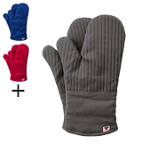 Big Red House Oven Mitts with The Heat Resistance of Silicone and Flexibility of Cotton