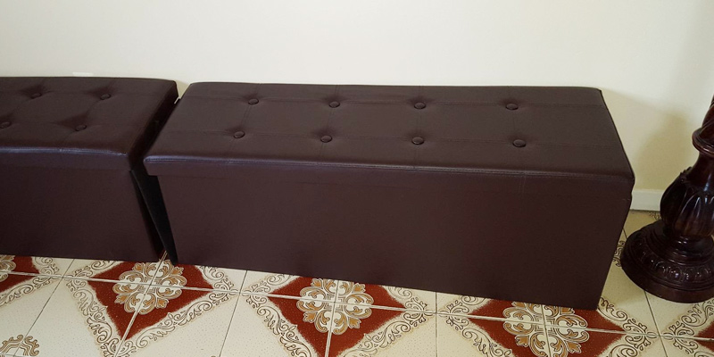 Review of SONGMICS Folding Ottoman Bench