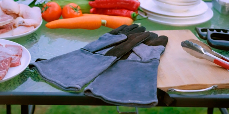 Review of OZERO Leather Heat Resistant Grill BBQ Gloves