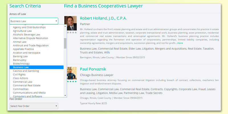Legal Services Link Corporate Lawyer in the use