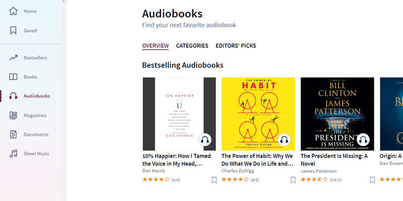 Detailed review of Scribd Audiobooks