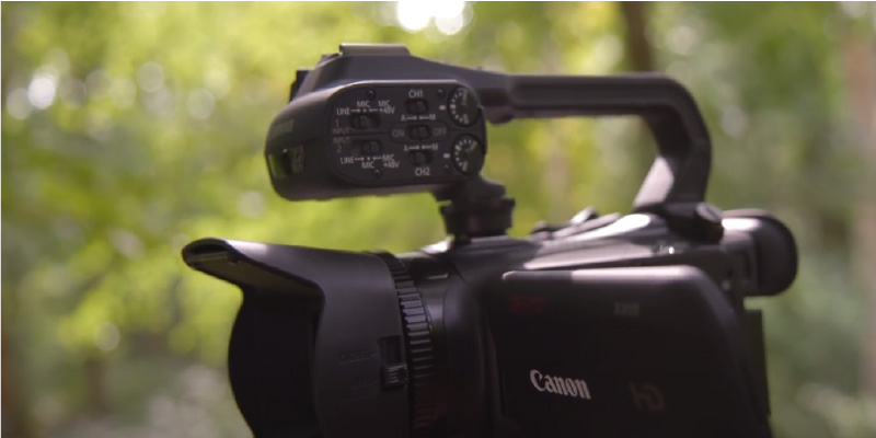 Canon XA11 Professional Camcorder in the use