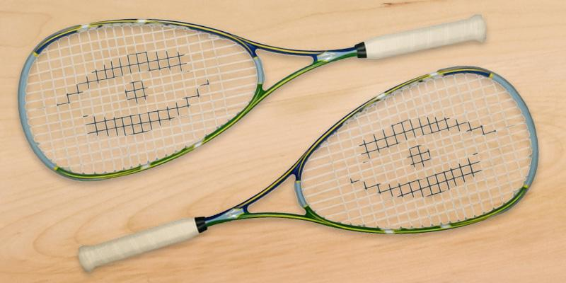 Harrow Junior Squash Racquet in the use
