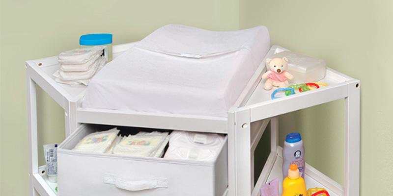 Badger Basket Corner Changing Table in the use