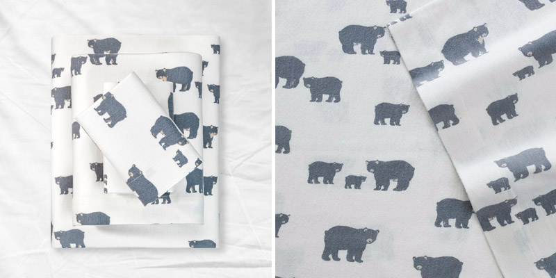 Review of Eddie Bauer Bear Family Flannel Sheet Set