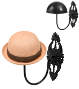 MyGift SHOMHNK004 Decorative Vintage Style Black Metal Wall Mounted Entryway Hat