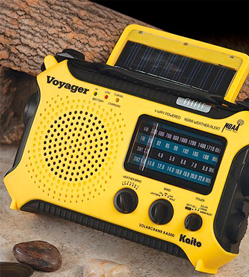 Review of Kaito KA500YL Emergency AM/FM/SW/NOAA Weather Alert Radio, 5-way Powered Solar Power, Dynamo Crank, Flashlight, Reading Lamp and Cellphone Charger