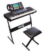 RockJam RJ561 Electronic Keyboard SuperKit with Stand, Stool, Headphones & Power Supply