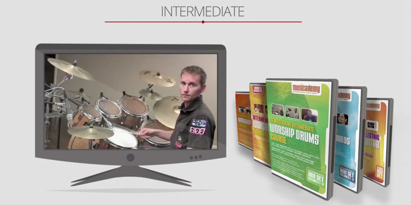 Musicademy Worship Drums for beginners in the use