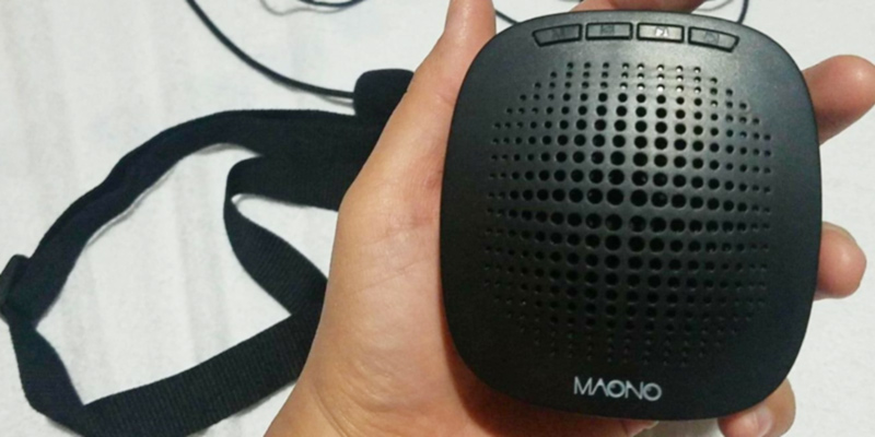 Review of MAONO AU-C03 Mini Voice Amplifier with USB Charging
