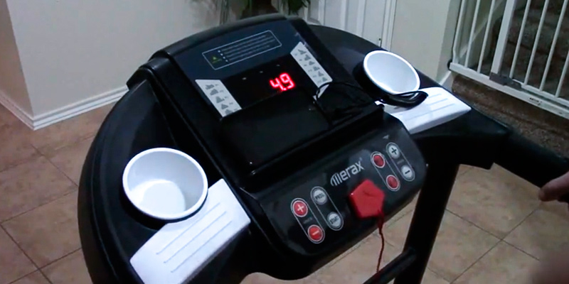 Merax 12 Programs Folding Treadmill for Home in the use