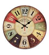 NALAKUVARA Vintage Colorful Wood Wall Clock