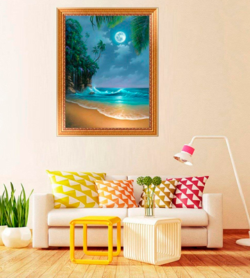 Review of AIRDEA Seaside Moon Beach DIY 5D Diamond Painting Kit