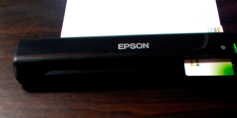 Epson WorkForce Portable Document & Image Scanner in the use