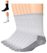 Fruit Of The Loom 6 Pack Heavy Duty Reinforced Crew Socks