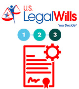 US Legal Wills Legal Will in 3 Easy Steps