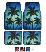 BDK Palm Tree Carpet Floor Mats for Car