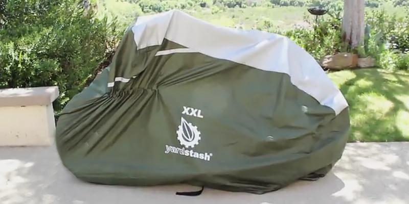 YardStash Bicycle Cover XXL for 2-3 Bikes in the use