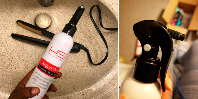 Review of HSI PROFESSIONAL Argan Oil Heat Protector spray