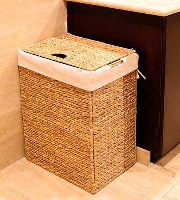 Review of Seville Classics Foldable Water Hyacinth Hamper