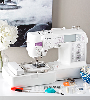 Review of Brother SE400 Combination Computerized Sewing and 4x4 Embroidery Machine With 67 Built-in Stitches