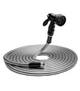 Tiabo 50ft 304 Stainless Steel Metal Garden Hose
