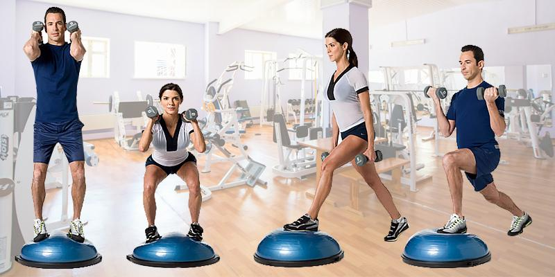 Bosu Balance Trainer Half-Ball in the use