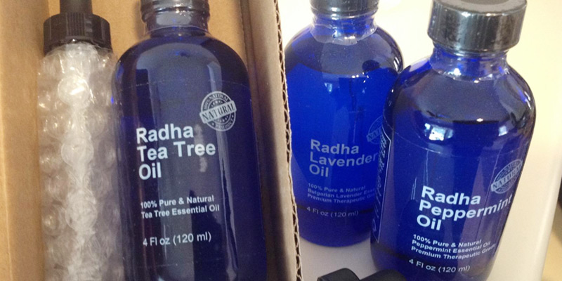 Radha Beauty Lavender Essential Oil application