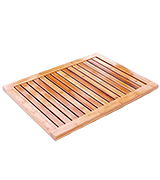 EcoTrueBamboo 618028904165 Non Slip Bamboo Mat for Bathroom, Outdoor Shower, Kitchen