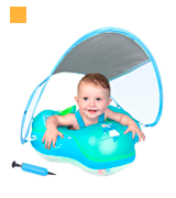 LAYCOL Inflatable Ring with Canopy Baby Swimming Float