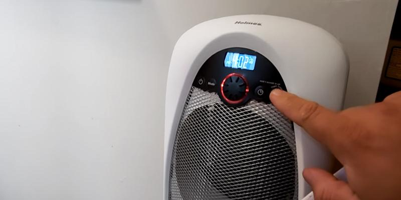 Holmes Digital Bathroom Heater Fan in the use