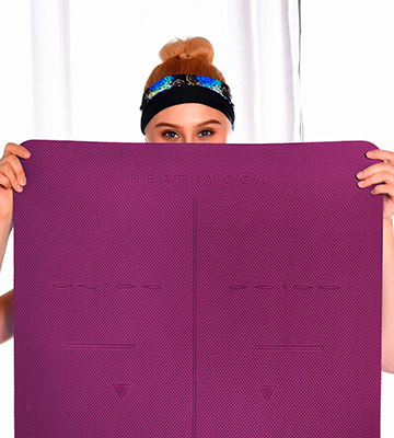 Review of Heathyoga Eco Friendly Non Slip Yoga Mat