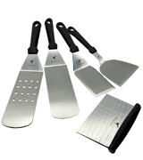 Rivexy BBQ Metal Spatula Set For Grill Griddle