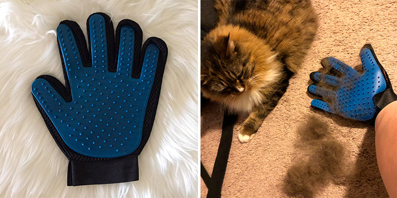 Review of DELOMO for Cat with Long & Short Fur Pet Grooming Brush Glove