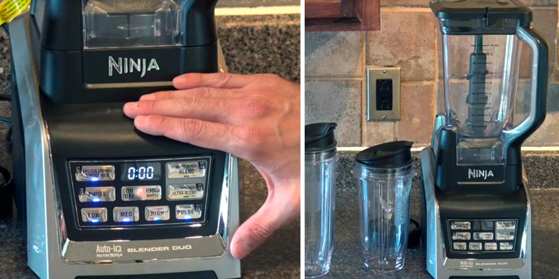 Ninja BL642 Countertop Blender Auto-iQ Base in the use