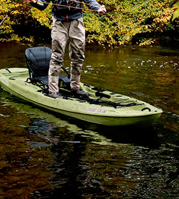 Review of SUNDOLPHIN Boss SS 12.3-Feet Sit-On/Stand On Top Angler Kayak