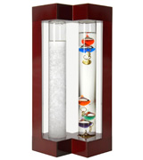 Lily's Home SW997 Admiral Fitzroy's Storm Glass and Galileo Thermometer