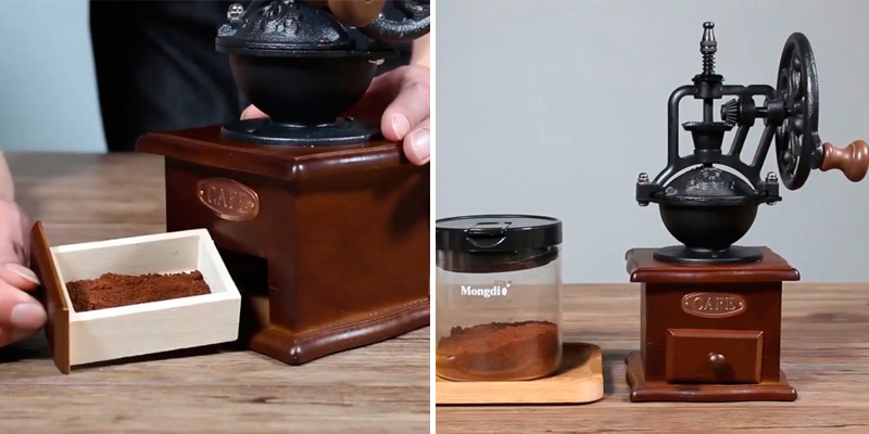 Review of IMAVO Vintage Style Wooden Manual Coffee Grinder
