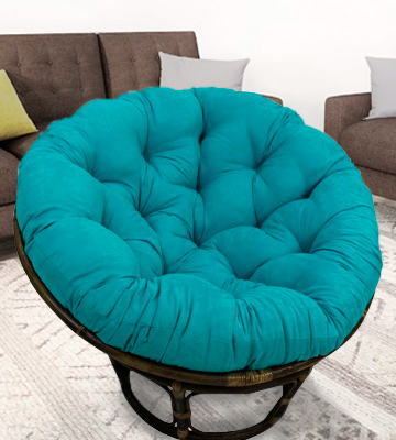 Review of International Caravan International Caravan Papasan Chair with Micro Suede Cushion