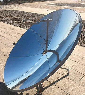 Review of HUKOER 1.5m Portable parabolic solar cooker