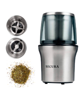 Secura CG7412-2Y Electric Spice Grinder & Coffee Grinder